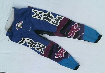 Fox MX Hose Pants US 32 Classic Motocross Retro Vintage blau-lila
