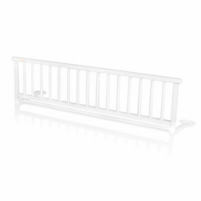 Baninni Bed Rail Rocco White Wood Child Baby Cot Safety Guard BNBTA015-WH#
