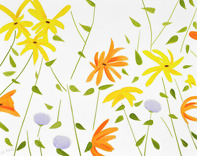 ALEX KATZ - Summer Flowers II Print hand signed & numbered American Contemporary