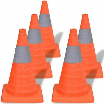 5 Pop-Up Car Traffic Warning Cones Orange Parking Safety Road Guard~