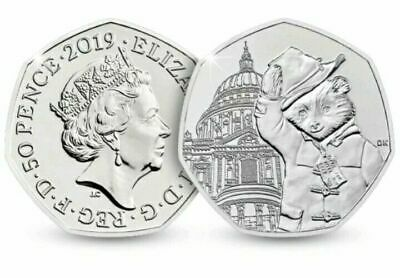 2019 PADDINGTON BEAR 1 x 50p COIN @ 'St.Pauls' Cathedral UNC   NEW.           A1