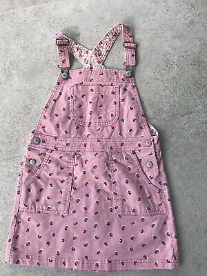 Mini Boden Girls Pink Corduroy Dress Age 7-8 Excellent Condition