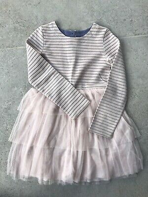 Mini Boden Girls Pink Party Dress Age 7-8 Excellent Condition Tuille Skirt