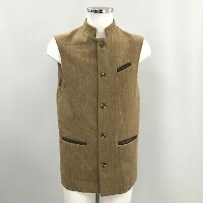 HOLLAND COOPER Brown Wool Waistcoat Formal Special Occasion Mens UK40 TH323894