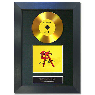 GOLD DISC BILLIE EILISH Don't Smile At Me Signed Autograph Mounted Print A4 195