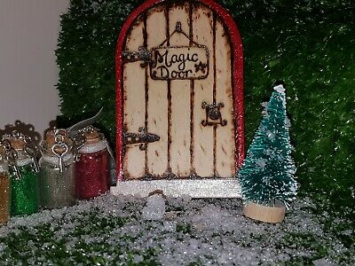 Magical Elf, Fairy, Christmas Door With Magic Key And Glitter Dust