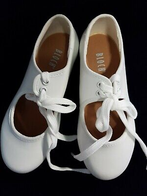 Girls  white PU Low Heel Tap Dance Shoes  By Bloch  Timestep 301G