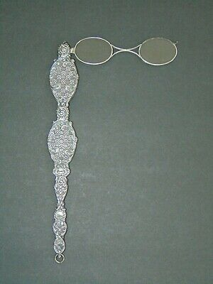 ANTIQUE SILVER LORGNETTE - LATE VICTORIAN or EDWARDIAN