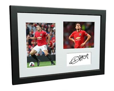 Signed Harry Maguire Manchester United Photo Photograph Autograph Picture Frame