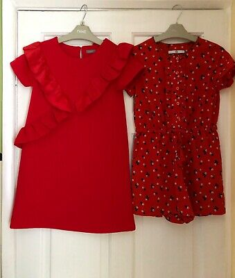 Girls NEXT dress & M&S playsuit age 7/8 years