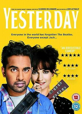 YESTERDAY DVD - Reg 2. watched once from new rated 12 Himesh Patel & Liliy James