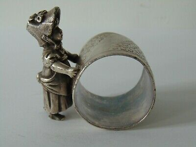 Antique Victorian Silver Plated Figural Napkin Ring