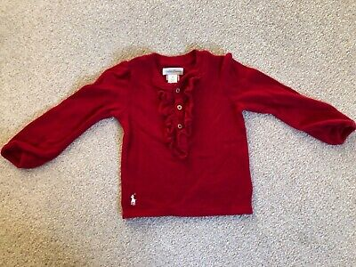 Baby girls Ralph lauren top - 12months. Smoke/pet free home. Perfect condition