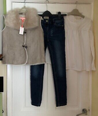 Girls outfit age 9/10 years NEW JIGSAW gilet, Next Jeans, Zara Top