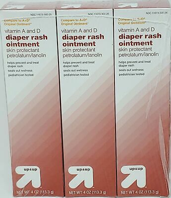 Diaper Rash Ointment, Vitamin A & D - 4oz - Up&Up (3 Pack)
