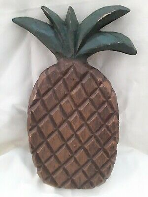 Carved Wooden Pineapple Wall Art Rustic Room Decor
