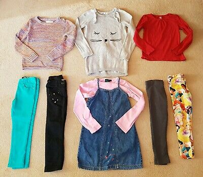 Age 6-7 Years Girls Bundle Autumn Winter Dress Jeans Inc Boden Next H&M