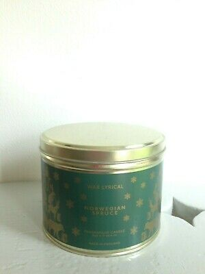Round gold metal tin originally with wax lyrical candle but ideal small storage