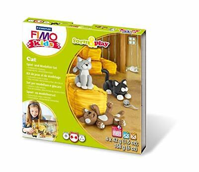 Fimo Modelling Set and 803416LY Kids Form  Play Cat, Level 2