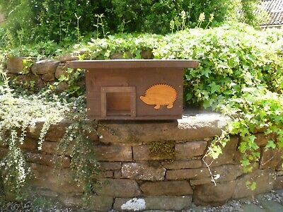 Wooden Hedgehog house/ Hibernation nesting box, hand made from solid Larch