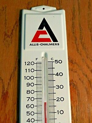 1960s Vintage Allis Chalmers Thermometer Sign Old Farm Tractor D-21 one ninety