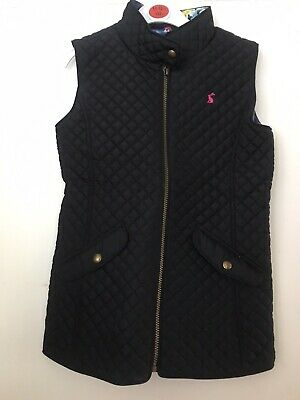 Joules Navy Blue Girls Padded Gillet Bodywarmer Age 9-10 Yrs ONLY WORN TWICE!
