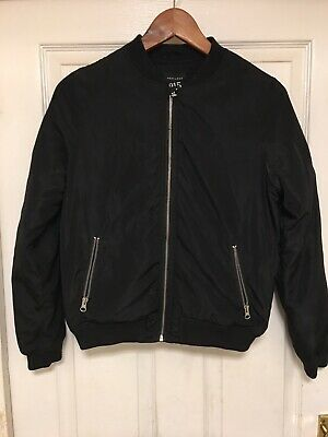 NEW LOOK 915 Generation girls black bomber jacket age 12-13 years