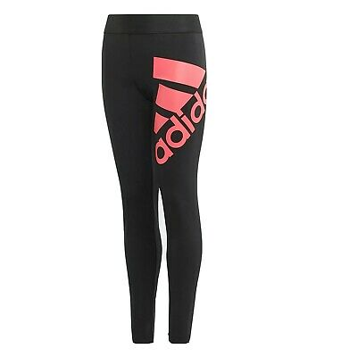 Girls ADIDAS Leggings black Must Haves Badge of Sport age 9 - 15 kids NEW RARE
