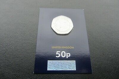 2019 1 x 50p  WALLACE & GROMIT COIN BUNC  CARDED                              A7