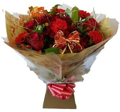 FRESH FLOWERS Delivered UK Christmas Wishes Free Flower Delivery