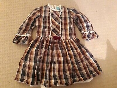 Spanish Tartan Christmas Romany Girls Party Dress Age 4 Years ❤