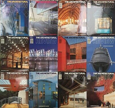 Architectural Review 1992.  All 12 issues Jan-Dec.