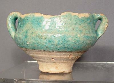 Ancient Middle Eastern Ceramic Wine Cup Sassanian 224-642 A.D.