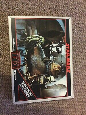 Vintage Star Wars Return Of The Jedi Puzzle Complete Year 1983