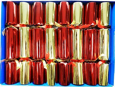 Crackers Magic Tricks - Figura Decorativa navideña, Color Rojo y Dorado