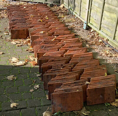 per 10 Reclaimed Handmade Red Clay Plain Roofing Tiles 10 ½ x 6 ½