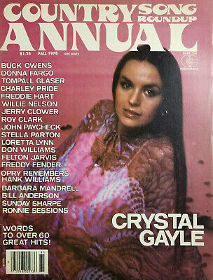 Country Song Roundup Annual Vtg Magazine Fall 1978 Crystal Gayle No Label VG