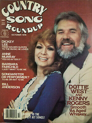 Country Song Roundup Vtg Magazine Oct 1978 - Dottie West Kenny Rogers No Label