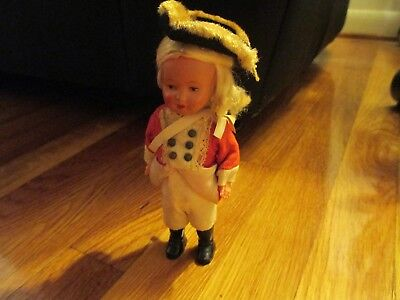 Vintage wind up toy image of a British soldier with Tricorn Hat, key #1 Schuco