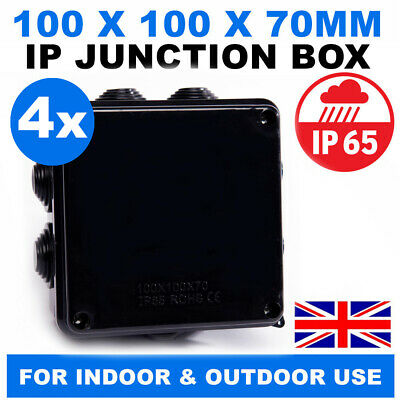 ABS Plastic IP65 Waterproof Junction Box DIY Outdoor Electrical Connection boxH/&