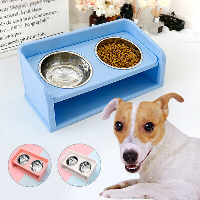 Elevated Dog Cat Food Bowls Small Medium Dogs Raised Stainless Steel Water Bowls