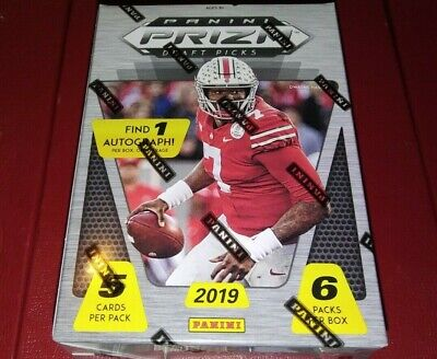 2019 Panini Prizm Draft Picks Football  Box 6 Packs 1 Auto Chase Bosa Jones RC