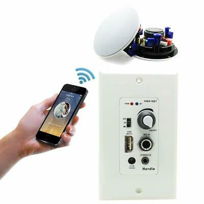 In wall mount bluetooth audio control amplifier home ceiling bathroom speakers