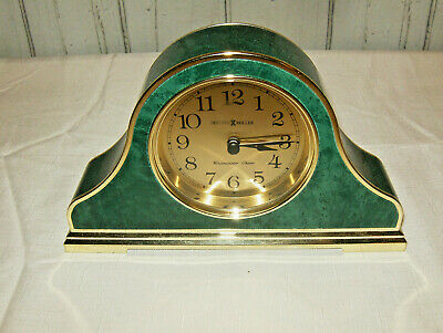 Howard Miller, mantle clock 613549 Westminster Chime Faux Green Marble (rare)