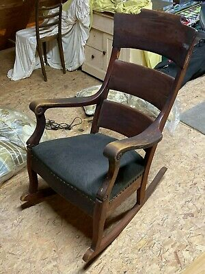 Creepy Antique Federal Empire Style Old Rocking Chair From My Attic ¯_(ツ)_/¯