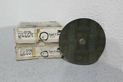 """Lot of 50 3m A/O Fastcut Resin Discs 100 Grit 7"""" x 7/8"""" 051144-01739 FREE S&H"""