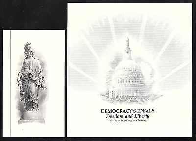 Engravings by BEP Freedom /& Liberty US Capital /& Allegorical Woman