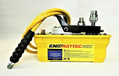 10000 PSI Air Operated Hydraulic Pump Single Acting C/W Hose & HP Coupler 680Bar