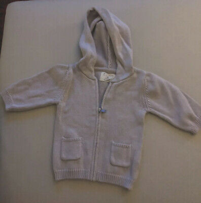 Baby Cardigan Jumper Pale Purple Wilson & Frenchy 000 0-3 Months RRP $59.95