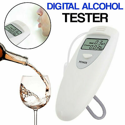 Digital LCD Alcohol Tester Breath Analyzer Breathalyzer Police Accurate Safe